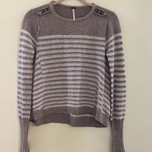 FREE PEOPLE Majorette striped pullover sweater